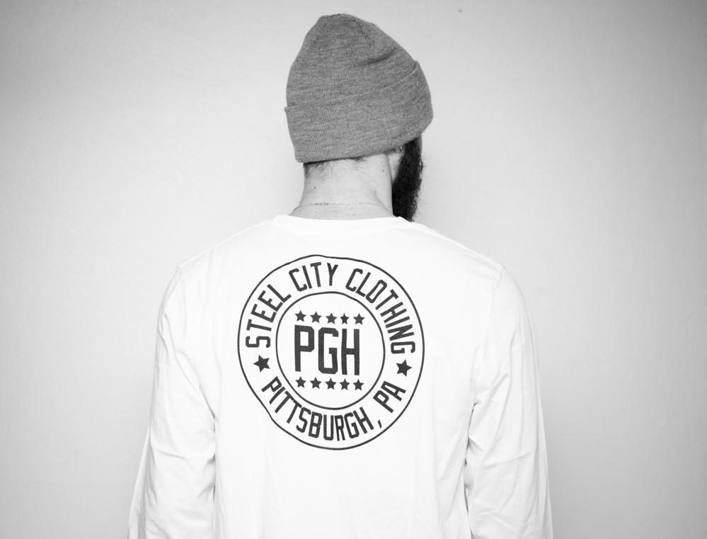 Pittsburgh seal long sleeve steel city clothing company for Custom t shirt printing pittsburgh