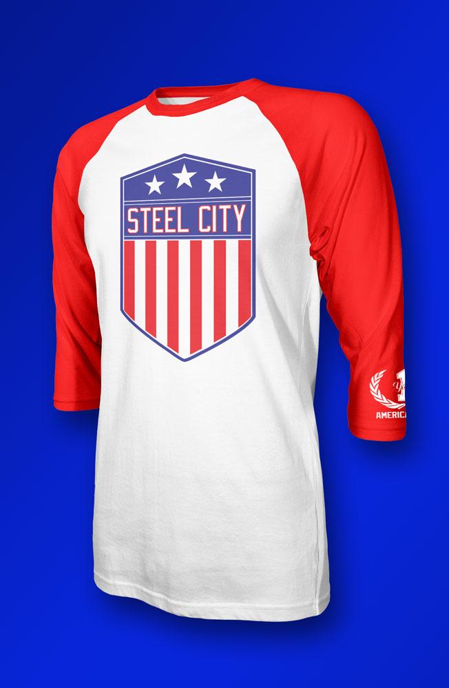 anniversary baseball t shirt steel city clothing company