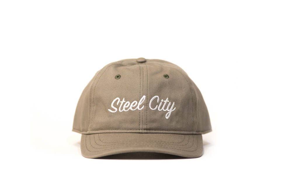 Steel City Dad Hats - Army Green — Steel City Clothing Company c1befec2f95